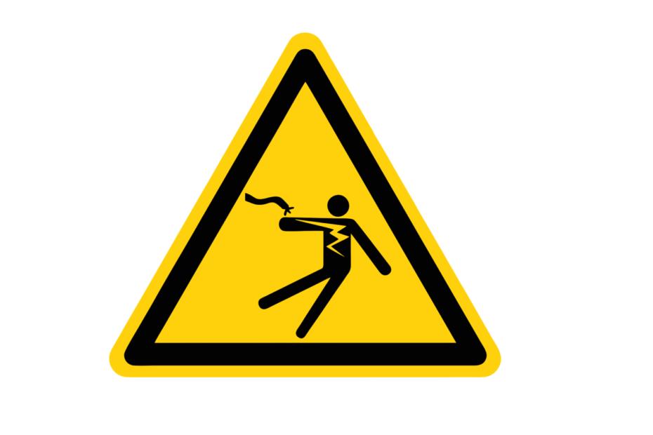 внимание опасност от ток