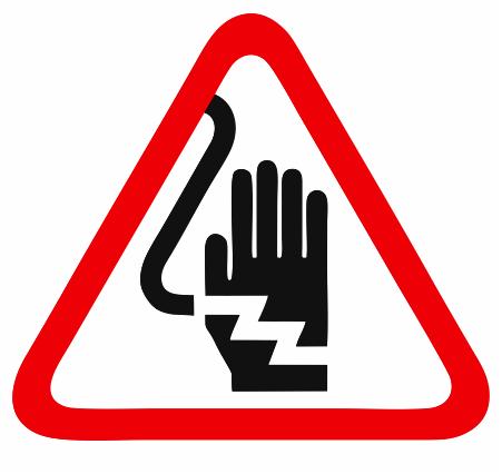 Не пипайте опасност от токов удар.